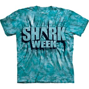 Aqua Shark Week T Shirt