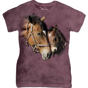 Two Hearts Horses T Shirt