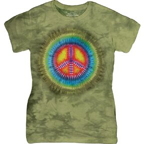 Peace Tie Dye Retro T Shirt