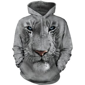Hoodie White Tiger 3D