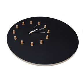 Wall Clock Kloki XL - black