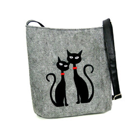 Messenger Handbag - Two Cats