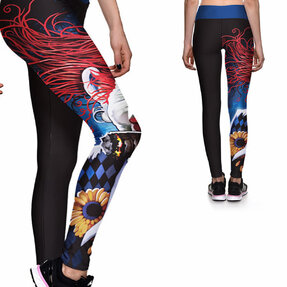 Ladies' Elastic Sport Leggings - Creepy Clown