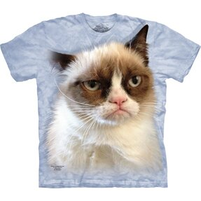 Kids' Blue T-shirt Grumpy Cat