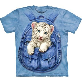 Backpack White Tiger