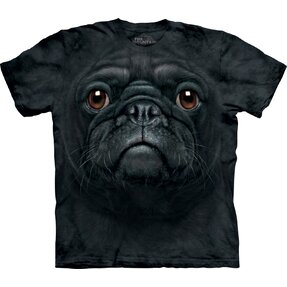 Black Pug Dog Face Child