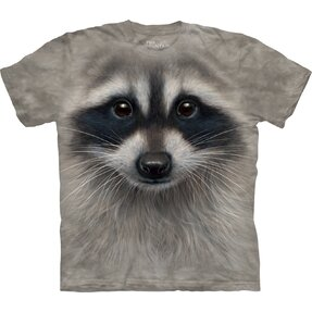 T-shirt Face Raccoon