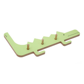 Coat Rack Crocodile DINO - green