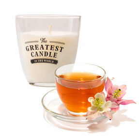 Glass Candle Darjeeling Flowers