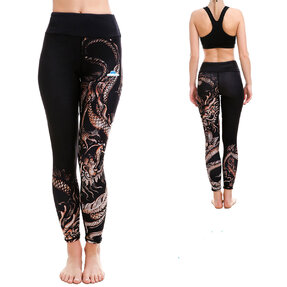 Ladies' Sport Elastic Leggings Chinese Dragon