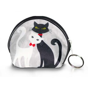 Coin Purse - Black and White Cat